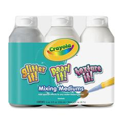Crayola Mixing Mediums Paint Effects - 8 oz - 3 / Pack - Assorted
