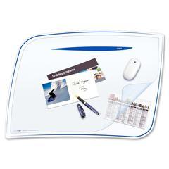 "CEP Desk Mat - 16.50"" Length x 24.80"" Width x 2.17"" Thickness - Polystyrene - Blue"