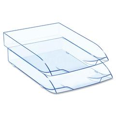 "CEP Ice Blue 147/2i Desk Tray - 500 x Sheet - 10.6"" Height x 14.6"" Width x 2.4"" Depth - Desktop - Blue - Polystyrene - 1Each"