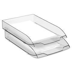 "CEP Ice Black 147/2i Desk Tray - 500 x Sheet - 10.6"" Height x 14.6"" Width x 2.4"" Depth - Desktop - Black - Polystyrene - 1Each"