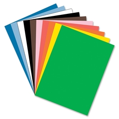 "Tru-Ray Construction Paper - 24"" x 36"" - 76 lb Basis Weight - 50 / Pack - Assorted - Sulphite"