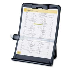 "Copy Holder with Document Clip - 10"" x 2.5"" x 14.4"" - 1 Each - Black"