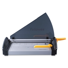 "Fellowes Plasma 150 Paper Cutter - 1 x Blade(s)Cuts 40Sheet - 15"" Cutting Length - 5"" Height x 14.5"" Width x 27"" Depth - Metal Base, Stainless Steel Blade - Silver"