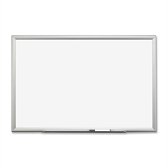 "Premium Porcelain Dry Erase Board - 48"" (4 ft) Width x 36"" (3 ft) Height - White Porcelain Surface - Aluminum Frame - Rectangle - 1 Each"
