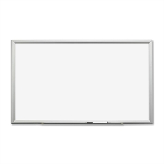 "3M Premium Porcelain Marker Boards - 60"" (5 ft) Width x 36"" (3 ft) Height - White Porcelain Surface - Silver Aluminum Frame - Rectangle - 1 Each"