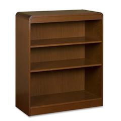 "Lorell 3-Shelf Bookcase - 36"" x 12"" x 36"" - 3 Shelve(s) - Radius Edge - Material: Hardwood, Wood - Finish: Cherry, Veneer"