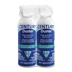 Century Gas Compressed Duster - For Home/Office Equipment - 10 fl oz - 2 / Pack - White