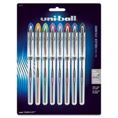 Uni-Ball Vision Elite Rollerball Pen - Bold Point Type - 0.8 mm Point Size - Refillable - Assorted Gel-based Ink - 8 / Pack