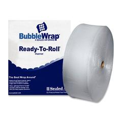 "Sealed Air Bubble Wrap Multi-purpose Material - 12"" Width x 250 ft Length - 187.5 mil Thickness - 1 Wrap(s) - Lightweight, Perforated - Clear"