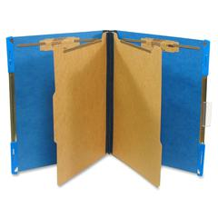 "SJ Paper Hanging Classification Folder - Letter - 8 1/2"" x 11"" Sheet Size - 2"" Expansion - 4 Fastener(s) - 2"" Fastener Capacity for Folder - 2 Divider(s) - 25 pt. Folder Thickness - Pressboard - Cobal"