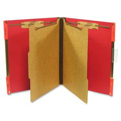 "SJ Paper Hanging Classification Folder - Letter - 8 1/2"" x 11"" Sheet Size - 2"" Expansion - 4 Fastener(s) - 2"" Fastener Capacity for Folder - 25 pt. Folder Thickness - Pressboard - Ruby Red - Recycled"