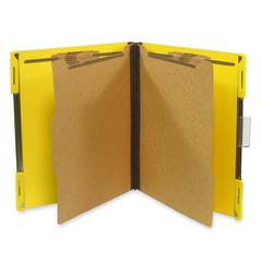"SJ Paper Hanging Classification Folder - Letter - 8 1/2"" x 11"" Sheet Size - 2"" Expansion - 4 Fastener(s) - 2"" Fastener Capacity for Folder - 25 pt. Folder Thickness - Pressboard - Yellow - Recycled -"
