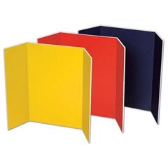 """Pacon Tri Fold Foam Presentation Board - 36"""" Height x 48"""" Width - Assorted Foam Board Surface - 6 / Carton"""
