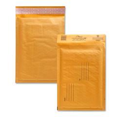 "Alliance Rubber Kraft Bubble Mailer - Bubble - #1 - 7.25"" Width x 12"" Length - Peel & Seal - Paper - 25 / Carton - Kraft"