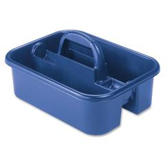 "Handheld Tote Caddy - External Dimensions: 13.8"" Width x 18.4"" Depth x 9"" Height - Polymer - Blue - For Tool - 1 Each"