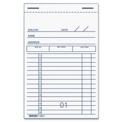 "Rediform Sales Receipt Book - 50 Sheet(s) - 2 Part - Carbon Copy - 5"" x 3.37"" Sheet Size - Recycled - 1 Each"