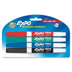 Expo Low-Odor Dry-erase Fine Tip Markers - Fine Marker Point Type - Assorted - 4 / Set