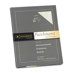 "Southworth Parchment Paper - Letter - 8.50"" x 11"" - 24 lb Basis Weight - Parchment - 100 / Pack - Ivory"