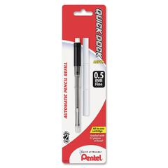 Pentel Quick Dock Mechanical Pencil Refill - 0.5 mmFine Point - HB - Black - 1 / Pack