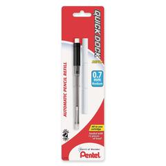 Pentel Quick Dock Mechanical Pencil Refill - 0.7 mmMedium Point - HB - Black - 1 / Pack
