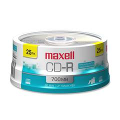 CD Recordable Media - CD-R - 48x - 700 MB - 25 Pack Spindle - 120mm - 1.33 Hour Maximum Recording Time