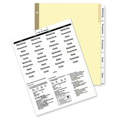 """Kleer-Fax HiTech Deluxe Ring Book Index Divider - 5 x Divider(s) - 5 Tab(s)/Set - 8.50"""" Divider Width x 11"""" Divider Length - Letter - 3 Hole Punched - Clear Divider - 5 / Set"""