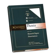 "Southworth Thesis Paper - Letter - 8.50"" x 11"" - 20 lb Basis Weight - Recycled - Wove - 250 / Pack - Bright White"