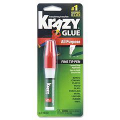 Krazy Glue Original Formula Glue Pen - 0.106 oz - 1 / Each - Clear
