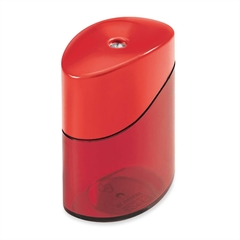 "Baumgartens Elliptic Geo Pencil Sharpener - Handheld - 1 Hole(s) - 1.8"" Height - Assorted"