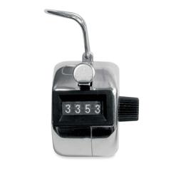 Baumgartens Tally Counter - 4 Digit - Finger Ring - Handheld - Metal - Black