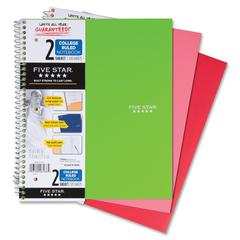 "Mead Wirebound 2-Subject Notebook - 120 Sheets - Printed - Wire Bound 8.50"" x 11"" - White Paper - Assorted Cover - Plastic Cover - 1Each"