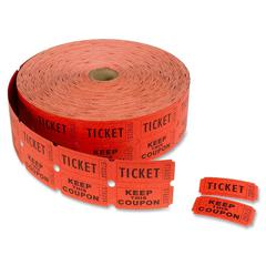 "MACO Double Roll Ticket - ""Ticket/Keep This Coupon"" - Red/Roll"