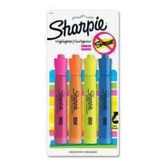 Sharpie Accent Tank Highlighter - Chisel Point Style - Yellow, Orange, Pink, Blue - 4 / Pack
