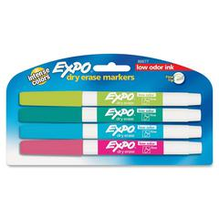 Expo Dry Erase Marker - Fine Point Type - Point Point Style - Assorted Alcohol Based Ink - 4 / Pack
