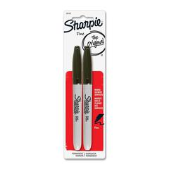 Sharpie Fine Point Marker - Fine Point Type - Black Alcohol Based Ink - 2 / Pack
