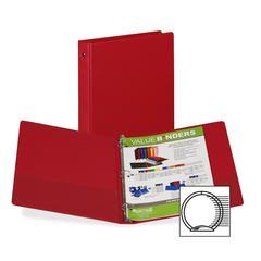 "Samsill 3-Ring Vinyl Storage Binders - 1"" Binder Capacity - Letter - 8 1/2"" x 11"" Sheet Size - 200 Sheet Capacity - 3 x Round Ring Fastener(s) - 2 Inside Front Pocket(s) - Vinyl - Burgundy - Recycled"