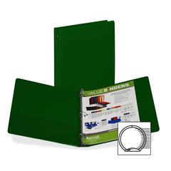 "Samsill Value Storage Ring Binder - 1"" Binder Capacity - Letter - 8 1/2"" x 11"" Sheet Size - 200 Sheet Capacity - 3 x Round Ring Fastener(s) - 2 Internal Pocket(s) - Vinyl - Green - 1 Each"