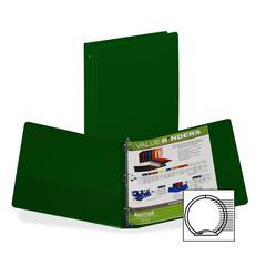 "Samsill 3-Ring Vinyl Storage Binders - 1"" Binder Capacity - Letter - 8 1/2"" x 11"" Sheet Size - 200 Sheet Capacity - 3 x Round Ring Fastener(s) - 2 Internal Pocket(s) - Vinyl - Green - 1 Each"