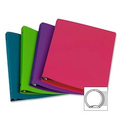 "Samsill Lightweight Poly Binder - 1"" Binder Capacity - Letter - 8 1/2"" x 11"" Sheet Size - Round Ring Fastener - Poly - Assorted - 12 / Carton"