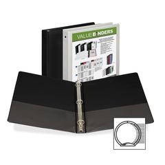 "Samsill Economy 2-Pocket Round Ring View Binders - 1"" Binder Capacity - Letter - 8 1/2"" x 11"" Sheet Size - 3 x Round Ring Fastener(s) - 2 Internal Pocket(s) - Assorted - Recycled - 12 / Carton"