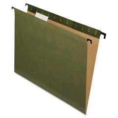 "Pendaflex SureHook Reinforced Hanging Folder - Legal - 8 1/2"" x 14"" Sheet Size - 1/5 Tab Cut - Green - 20 / Box"