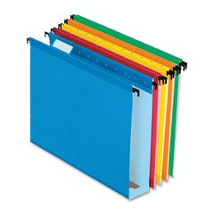 "Pendaflex Extra Capacity 2"" Hanging File Folders - Letter - 8 1/2"" x 11"" Sheet Size - 2"" Expansion - 1/5 Tab Cut - Assorted - 3.70 lb - 20 / Box"
