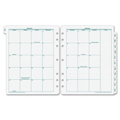 "Original Monarch Monthly Tab - Julian - Monthly - 1 Year - January 2017 till December 2017 - 1 Month Double Page Layout - 8.50"" x 11"" - 7-ring - Paper - Tabbed"