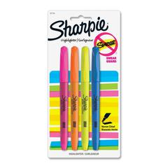 Sharpie Accent Pocket Highlighter - Chisel Point Style - Assorted - Assorted Barrel - 4 / Pack