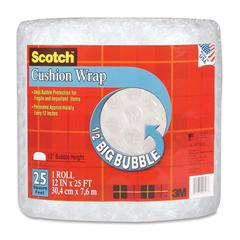 "Cushion Wrap - 12"" Width x 25 ft Length - 500 mil Thickness - Perforated - Clear"