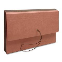 "Kleer-Fax Extra Heavy-duty Expanding Wallet - Legal - 8 1/2"" x 14"" Sheet Size - 3 1/2"" Expansion - Redrope - Red Fiber - Recycled - 1 Each"