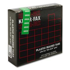 "Kleer-Fax 1/5 Cut Hanging Folder Tabs - 25 Tab(s)2"" Tab Width - Green Tab(s) - 25 / Pack"