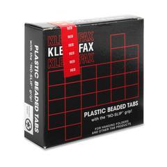 """Kleer-Fax 1/5 Cut Hanging Folder Tab - 25 Tab(s)2"""" Tab Width - Red Tab(s) - 25 / Pack"""