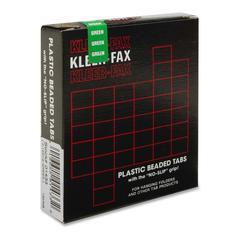 "Kleer-Fax 1/3 Cut Hanging Folder Tab - 25 Tab(s) x 3.50"" Tab Width - Green - 25 / Pack"
