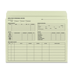 "Smead Employee Record File Folder - Letter - 8 1/2"" x 11"" Sheet Size - Manila - Recycled - 20 / Pack"